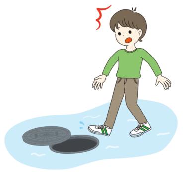 水害時はマンホールにも注意が必要!!